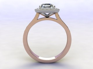 Certificated Asscher-Cut Diamond in 18ct. Rose Gold - 6