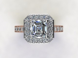 Certificated Asscher-Cut Diamond in 18ct. Rose Gold - 12