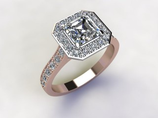 Certificated Asscher-Cut Diamond in 18ct. Rose Gold - 15