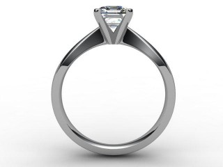 Certificated Asscher-Cut Diamond Solitaire Engagement Ring in 18ct. White Gold - 3