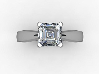 Certificated Asscher-Cut Diamond Solitaire Engagement Ring in 18ct. White Gold - 9