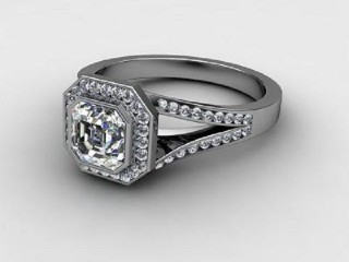 Certificated Asscher-Cut Diamond in 18ct. White Gold