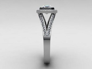 Certificated Asscher-Cut Diamond in 18ct. White Gold - 6