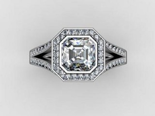 Certificated Asscher-Cut Diamond in 18ct. White Gold - 9