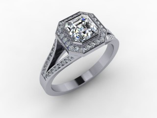 Certificated Asscher-Cut Diamond in 18ct. White Gold - 12