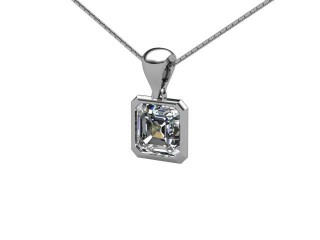 Certified Asscher-Cut Diamond Pendant - 3