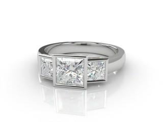 Trilogy 18ct. White Gold Asscher-Cut Diamond-06-0533-1008