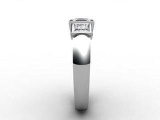 Trilogy 18ct. White Gold Asscher-Cut Diamond - 9