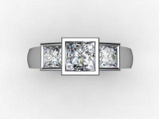 Trilogy 18ct. White Gold Asscher-Cut Diamond - 12