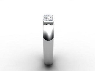 Trilogy 18ct. White Gold Asscher-Cut Diamond - 9