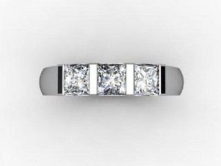 Trilogy 18ct. White Gold Asscher-Cut Diamond - 12