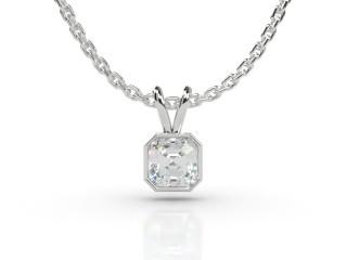 Certified Asscher-Cut Diamond Pendant-06-05912