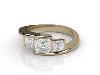 Trilogy 18ct. Yellow Gold Asscher-Cut Diamond-06-1833-2301