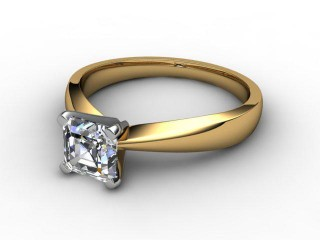 Certificated Asscher-Cut Diamond Solitaire Engagement Ring in 18ct. Gold-06-2800-0001