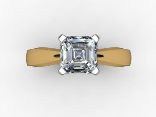 Certificated Asscher-Cut Diamond Solitaire Engagement Ring in 18ct. Gold - 12
