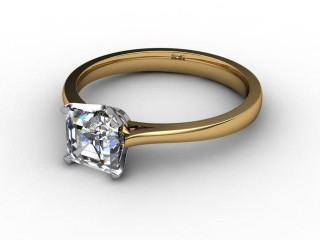Certificated Asscher-Cut Diamond Solitaire Engagement Ring in 18ct. Gold-06-2800-0003