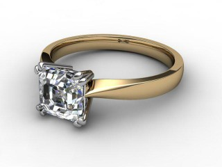 Certificated Asscher-Cut Diamond Solitaire Engagement Ring in 18ct. Gold-06-2800-2247