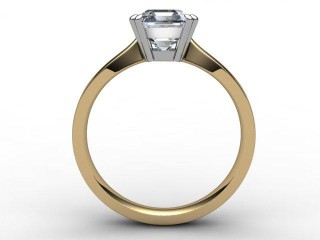 Certificated Asscher-Cut Diamond Solitaire Engagement Ring in 18ct. Gold - 3