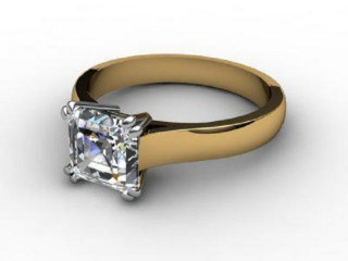 Certificated Asscher-Cut Diamond Solitaire Engagement Ring in 18ct. Gold-06-2800-6057