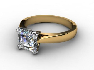 Certificated Asscher-Cut Diamond Solitaire Engagement Ring in 18ct. Gold-06-2800-6106