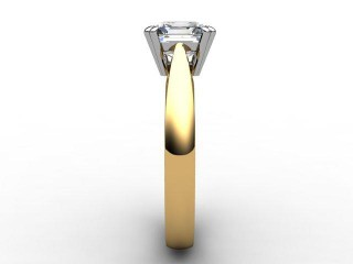 Certificated Asscher-Cut Diamond Solitaire Engagement Ring in 18ct. Gold - 6