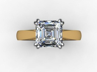 Certificated Asscher-Cut Diamond Solitaire Engagement Ring in 18ct. Gold - 9