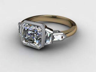 Certificated Asscher-Cut Diamond in 18ct. Gold