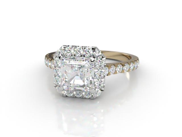 Certificated Asscher-Cut Diamond in 18ct. Gold