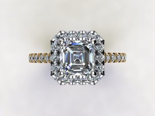 Certificated Asscher-Cut Diamond in 18ct. Gold - 9