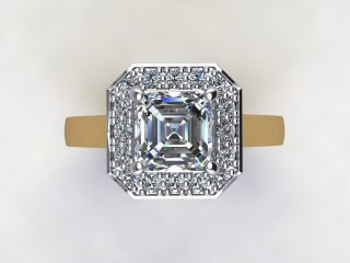 Certificated Asscher-Cut Diamond in 18ct. Gold - 9