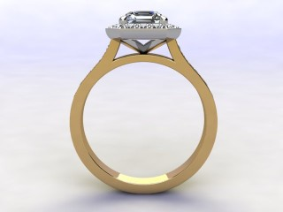 Certificated Asscher-Cut Diamond in 18ct. Gold - 3