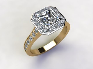 Certificated Asscher-Cut Diamond in 18ct. Gold - 12