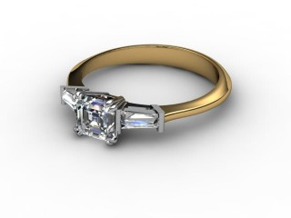 Certificated Asscher-Cut Diamond in 18ct. Gold-06-2802-0028