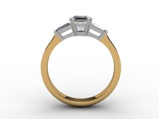 Certificated Asscher-Cut Diamond in 18ct. Gold - 3
