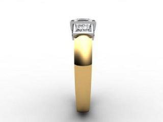Trilogy 18ct. Yellow Gold Asscher-Cut Diamond - 9