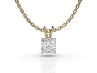 Certified Asscher-Cut Diamond Pendant-06-28911
