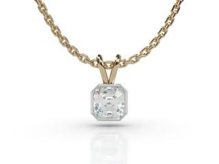 Certified Asscher-Cut Diamond Pendant-06-28912