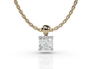 Certified Asscher-Cut Diamond Pendant-06-28913