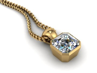 Certified Asscher-Cut Diamond Pendant-06-28914