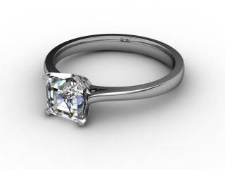 Certificated Asscher-Cut Diamond Solitaire Engagement Ring in Palladium-06-6600-0003