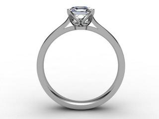 Certificated Asscher-Cut Diamond Solitaire Engagement Ring in Palladium - 3