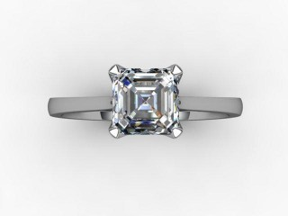 Certificated Asscher-Cut Diamond Solitaire Engagement Ring in Palladium - 9