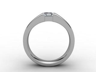 Certificated Asscher-Cut Diamond Solitaire Engagement Ring in Palladium - 6