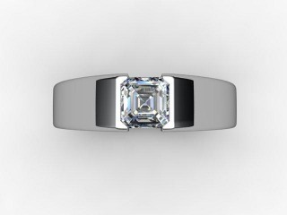 Certificated Asscher-Cut Diamond Solitaire Engagement Ring in Palladium - 12