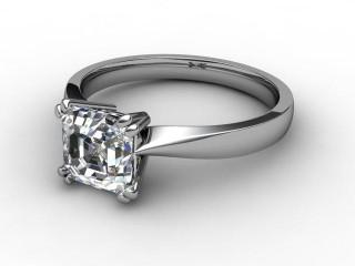 Certificated Asscher-Cut Diamond Solitaire Engagement Ring in Palladium-06-6600-2247