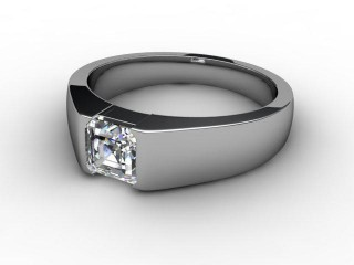 Certificated Asscher-Cut Diamond Solitaire Engagement Ring in Palladium-06-6600-2920