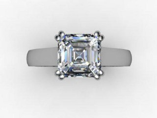 Certificated Asscher-Cut Diamond Solitaire Engagement Ring in Palladium - 9