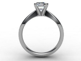 Certificated Asscher-Cut Diamond Solitaire Engagement Ring in Palladium - 3