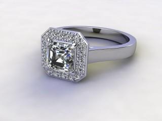 Certificated Asscher-Cut Diamond in Palladium-06-6600-8932