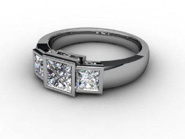 Trilogy Palladium Asscher-Cut Diamond